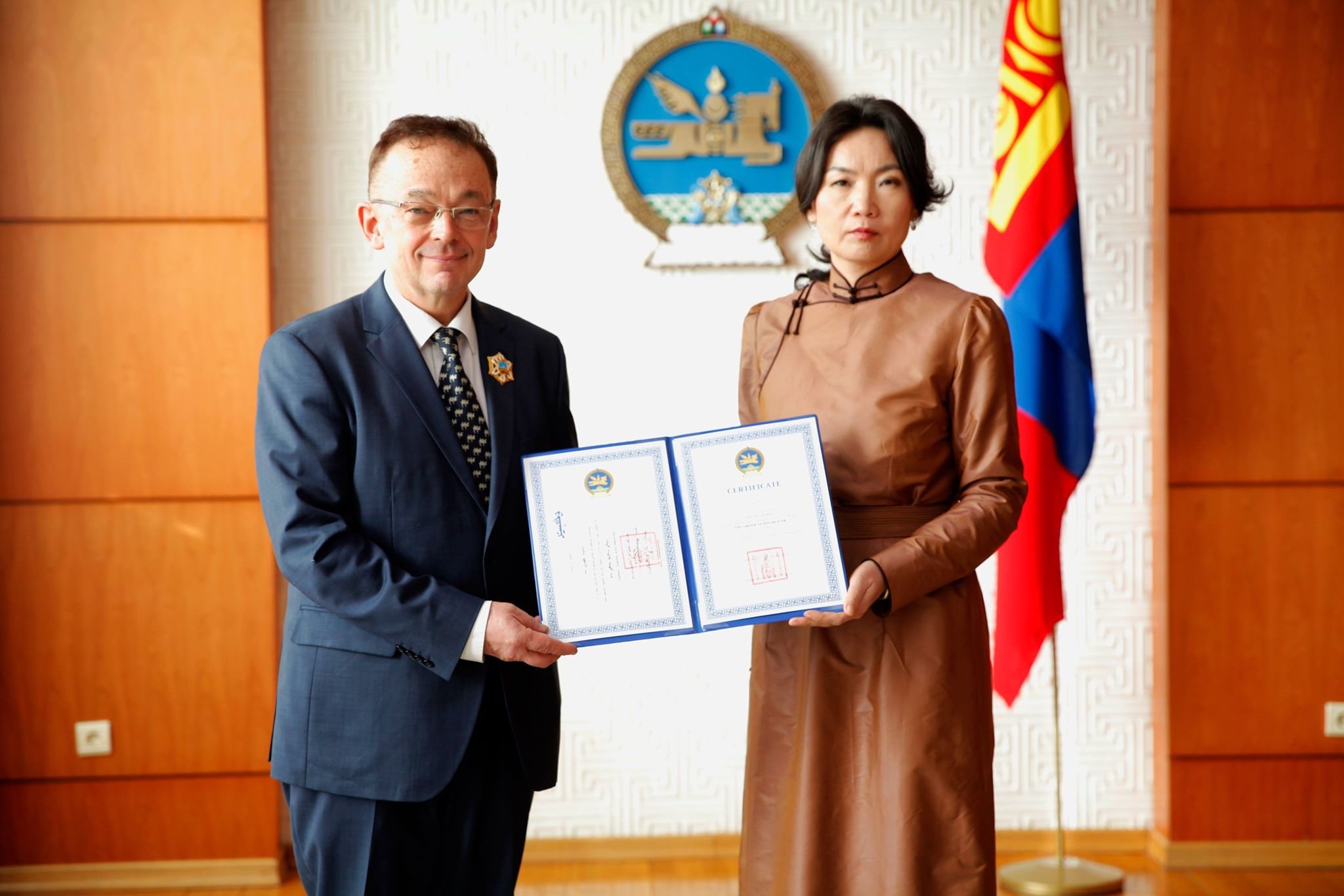 POLAR STAR ORDER CONFERRED UPON CONSUL AND COUNSELLOR OF THE